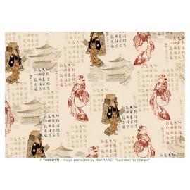 Papier imp. Motifs/Sinogrammes Japonais 50x70cm