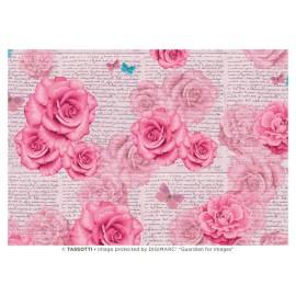 Papier imprimé Roses romantiques 50x70cm