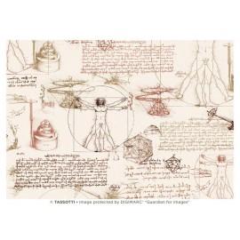 Papier imprimé Léonard de Vinci 50x70cm