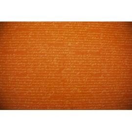 Papier imprimé Ecriture blanche sur fond orange 50x70cm