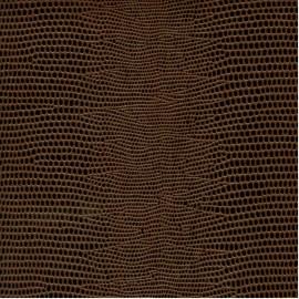 Papier cuir lézard marron 68,5x50 cm