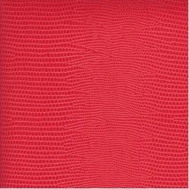 Papier cuir lézard rouge vif 68,5x100 cm
