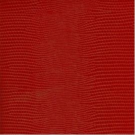 Papier cuir lézard rouge 68,5x50 cm