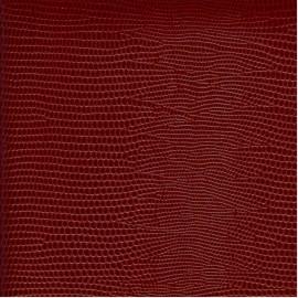 Papier cuir lézard bordeaux 68,5x100 cm