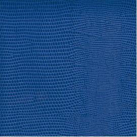 Papier cuir lézard bleu 68,5x100 cm