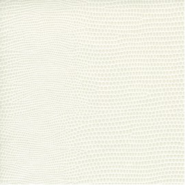 Papier cuir lézard blanc 68,5x100 cm