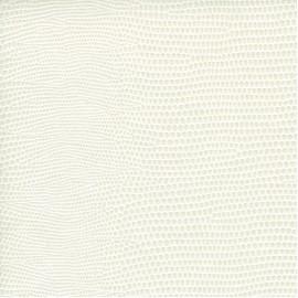 Papier cuir lézard blanc 68,5x50 cm
