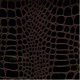 Papier cuir croco marron 68,5x50 cm