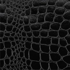 Papier cuir croco noir 68,5x50 cm