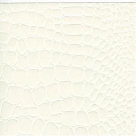 Papier cuir croco blanc 68,5x100 cm