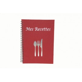"Book ""Mes Recettes"" Rouge"