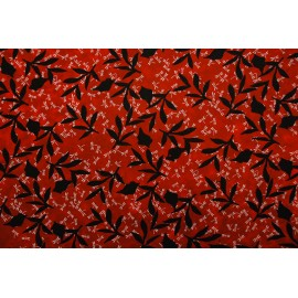 Lokta rouge feuilles et libellules