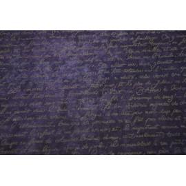 Texte français lavande sur violet