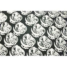 Batik Nepal Symboles Black & White