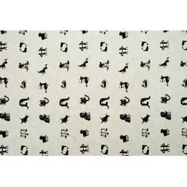 Papier Indien motif zodiaque