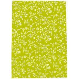 Livre d'or 21x29.7 Vert fleurs argent