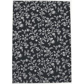 Livre d'or 21x29.7 Noir fleurs argent
