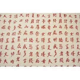 Ecriture Asiatique rouge sur blanc