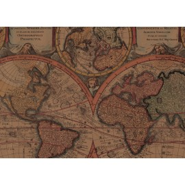 Papier imprimé globe