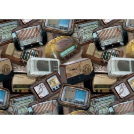 Papier imprimé radio ancienne 50x70cm