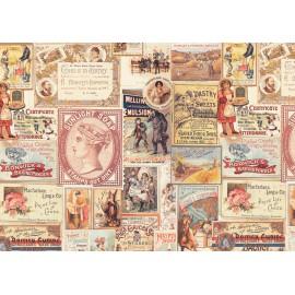 Papier imprimé vielles affiches 50x70cm