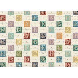 Papier imprimé Alphabet