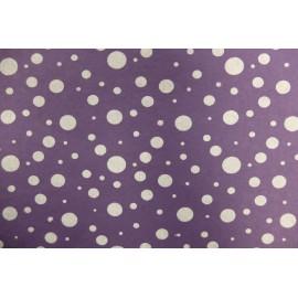 Papier indien violet pois blancs